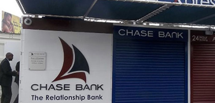 Chase Bank gets CBK's approval to start taking term deposits and resume lending